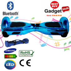 Bluetooth Blue Chrome Hoverboard