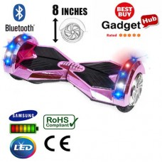8inch-pink-chrome-bluetooth-segway