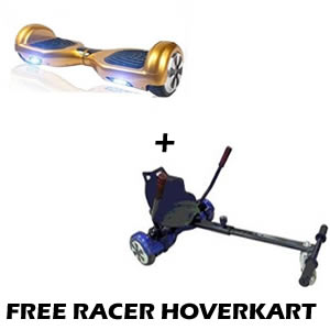 gold segway and free go hoverkart