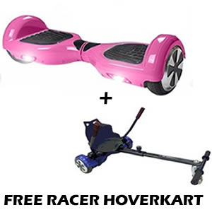 pink hoverboard with free racer kart
