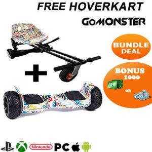 8.5 Hummer Segway Hoverboard with Monsterkart bundle plus Fortnite or Fifa points
